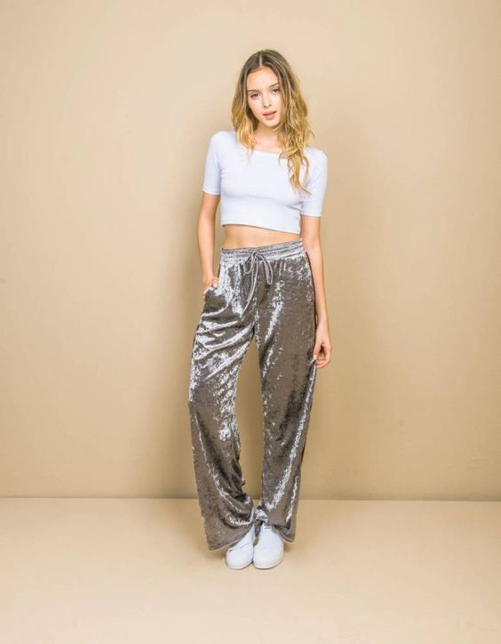 calça prata
