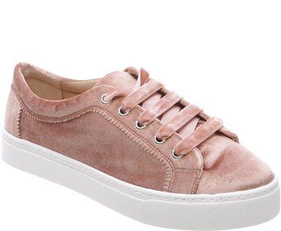 tenis de veludo rosa